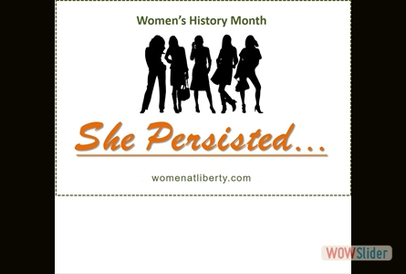 Happy Womens History Month!